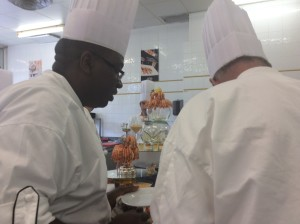 The other class.   On the left is my friend from the Ivory Coast.  He SMOKED the final test this week.  Hotcha!