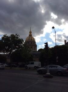 The dome des Invalides & Napoleon's tomb.