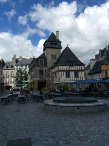 Quimper - the beautiful medieval center of town.