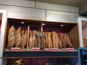 "MY baguette was from the far right - 'Pain de patron.""  The little local bakery appeared on a list of the 111 best patisseries in France.  Here are their eclairs."